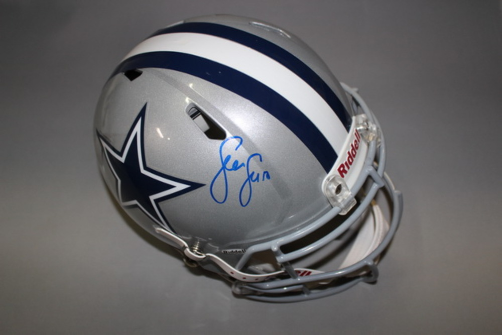 NFL - COWBOYS SEAN LEE SIGNED COWBOYS REVOLUTION HELMET