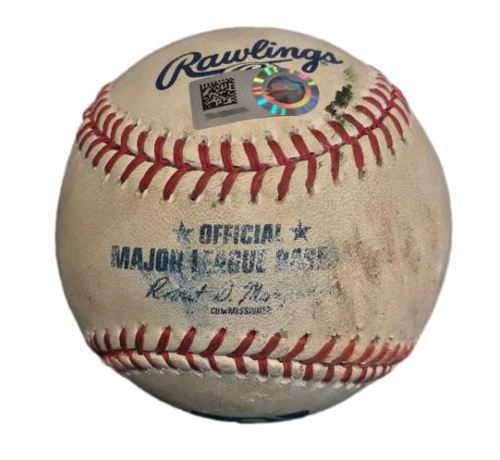 Photo of Game-Used Baseball from Pirates vs. Giants on 7/2/2017 - Joe Panik Double