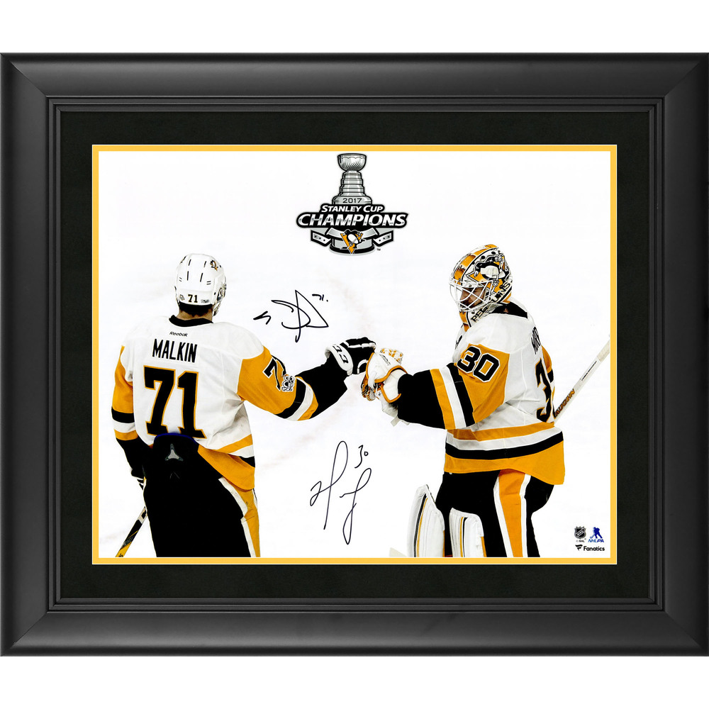 Matt Murray and Evgeni Malkin Pittsburgh Penguins Framed Autographed 16