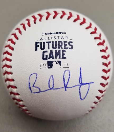 Photo of Brendan Rodgers Autographed 2018 Futures Logo Baseball