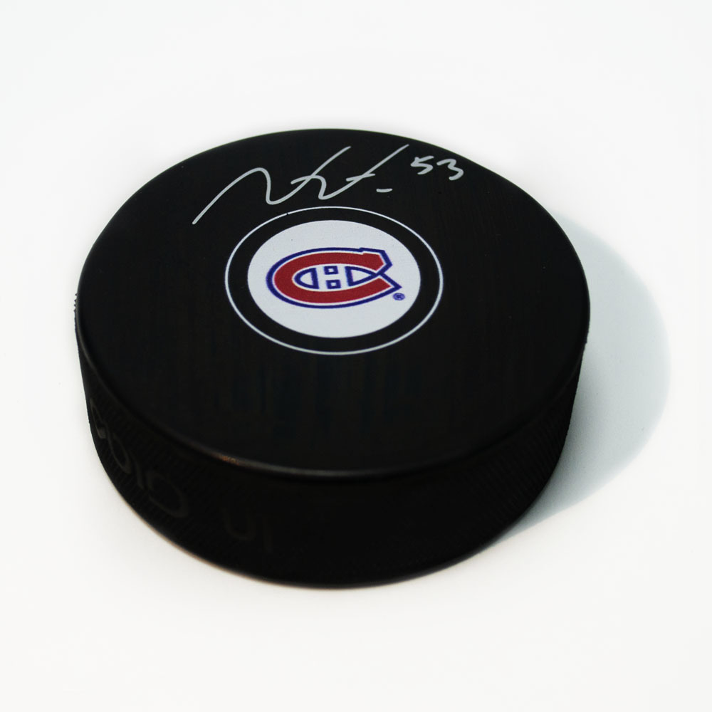 Victor Mete Montreal Canadiens Signed Autograph Model Hockey Puck