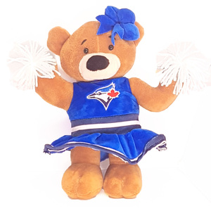 Toronto Blue Jays Plush Pom Pom Cheerleader Bear by Forever Collectibles