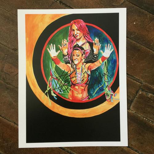 Photo of Sasha and Bayley SIGNED 11 x 14 Rob Schamberger Print