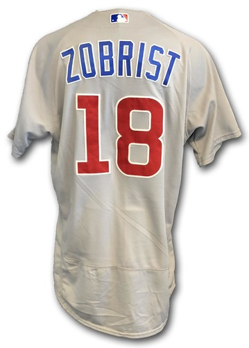 Photo of Ben Zobrist Game-Used Jersey -- Cubs at White Sox -- 9/22/18 -- Zobrist 2 Hits, 2 RBIs; Also Worn Opening Day 2018 -- Cubs at Marlins -- 3/29/18