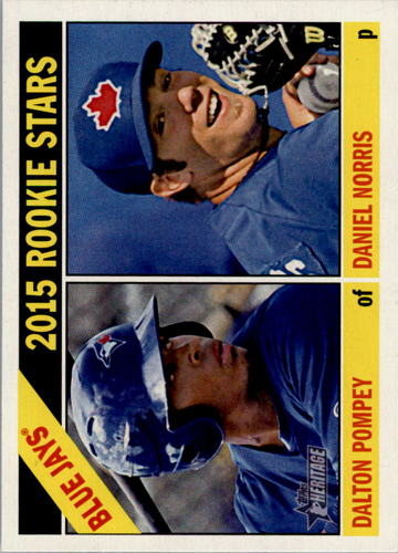 Photo of 2015 Topps Heritage #333 Dalton Pompey RC/Daniel Norris RC