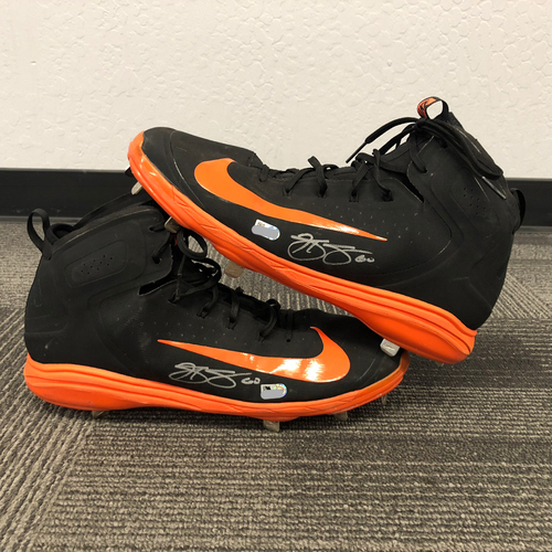 San Francisco Giants - Team Issued Autographed Cleats - #60 Hunter Strickland - Size 14