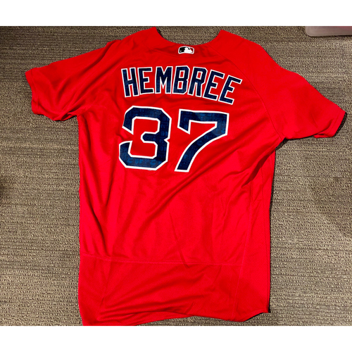 Photo of Boston Red Sox Heath Hembree 2016 Game-Used Spring Training Jersey