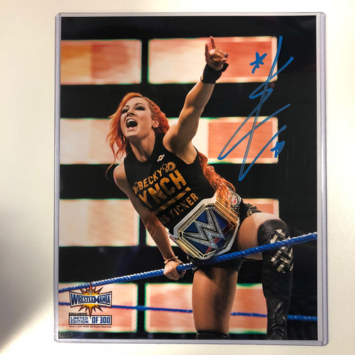 Photo of Becky Lynch SIGNED WrestleMania 33 Limited Edition Photo