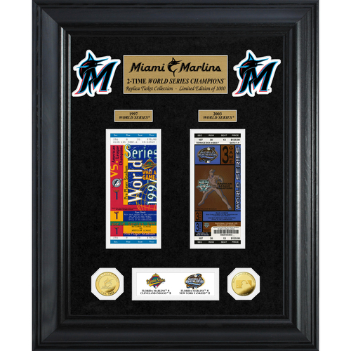 Photo of Miami Marlins World Series Deluxe Gold Coin & Ticket Collection