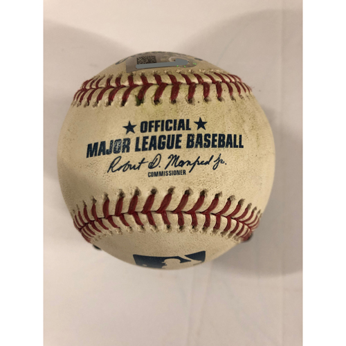 Photo of Dansby Swanson Game Used Walk-Off Hit Single - 4/7/2019