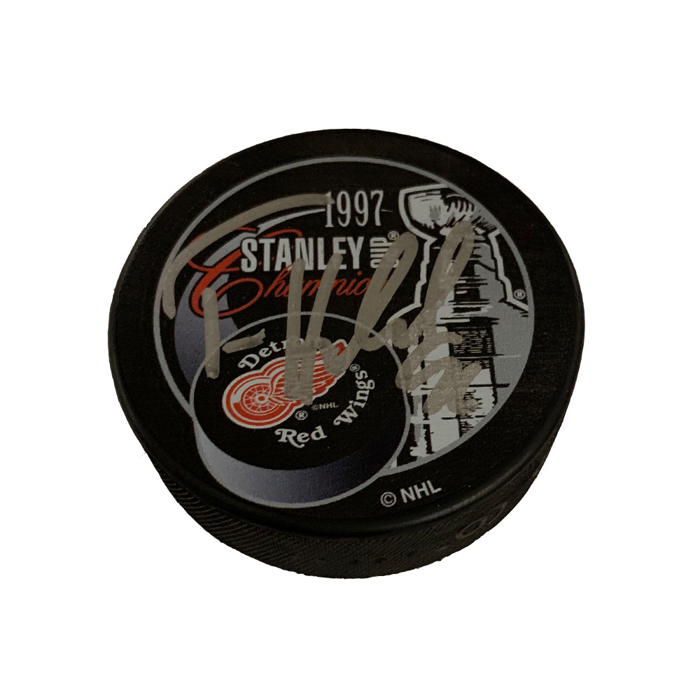 TOMAS HOLMSTROM Signed Detroit Red Wings 1997 Stanley Cup Champions Puck