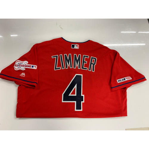 Photo of Bradley Zimmer 2019 Team Issued Alternate Home Jersey with ASG Patch