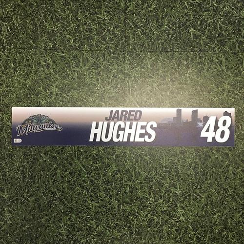 Photo of Jared Hughes 2017 Team-Issued Locker Nameplate