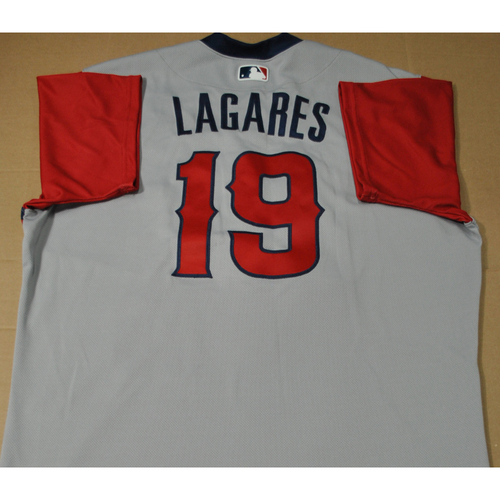 Photo of Game-used Jersey - 2021 Little League Classic - Los Angeles Angels vs. Cleveland Indians - 8/22/2021 - West, Juan Lagares #19