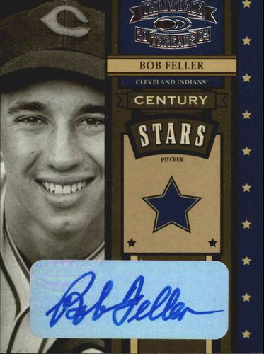 Photo of 2004 Throwback Threads Century Stars Signature #7 Bob Feller/25