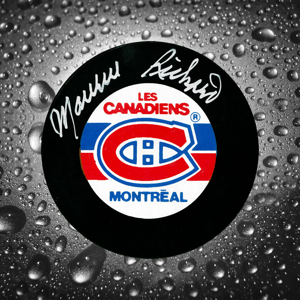 Maurice Richard Montreal Canadiens Original 6 Autographed Puck