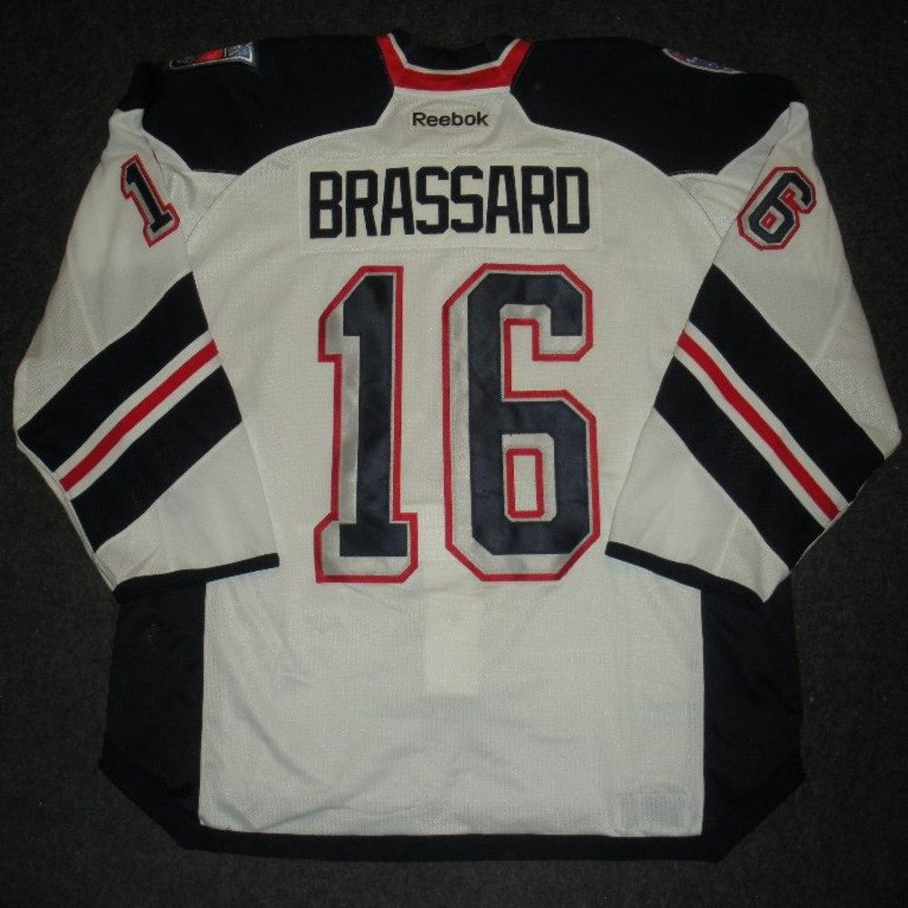 buy online 963b5 35460 authentic new york rangers jersey brassard a864c 153bb