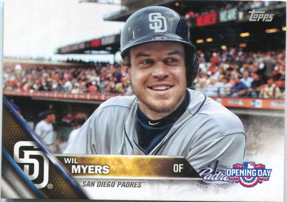 2016 Topps Opening Day #OD120B Wil Myers Short Print; no bat