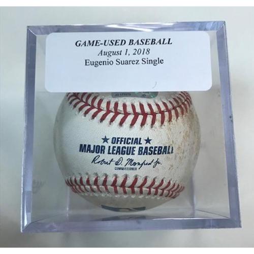 Photo of Game-Used Baseball: Eugenio Suarez Single