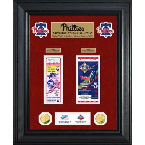 Photo of Philadelphia Phillies World Series Deluxe Gold Coin & Ticket Collection