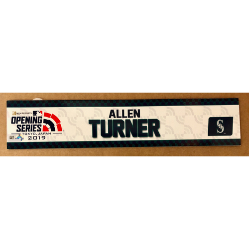 Photo of 2019 Japan Opening Day Series - Game Used Locker Tag - Allen Turner -  Seattle Mariners