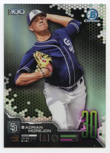 Photo of 2019 Bowman Chrome Scouts Top 100 #BTP30 Adrian Morejon