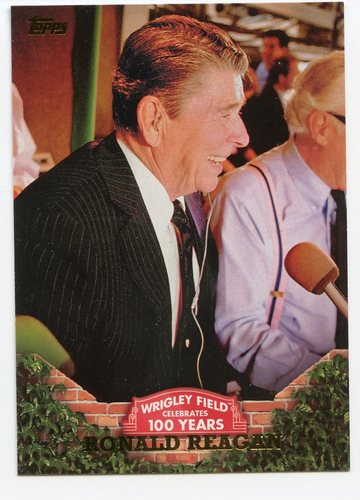 Photo of 2016 Topps 100 Years at Wrigley Field #WRIG47 Ronald Reagan