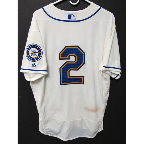 Photo of Seattle Mariners Tom Murphy Game-Used Marineros Jersey (Salute to Latin American) 9-15-2019
