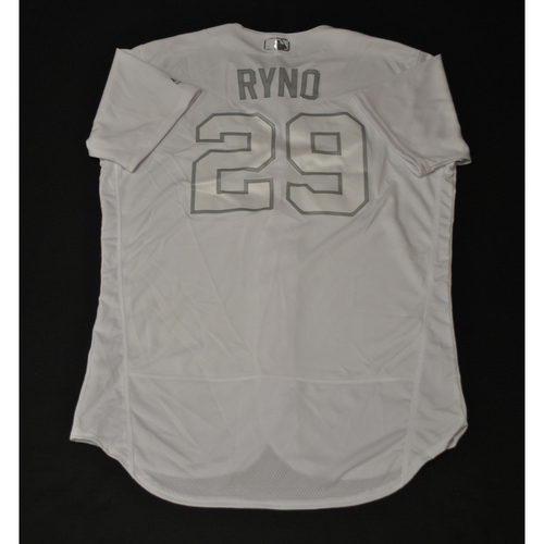 "Photo of Ryan ""RYNO"" Christenson Oakland Athletics Game-Used 2019 Players' Weekend Jersey"