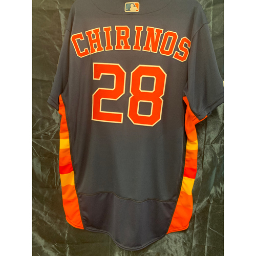Photo of 2019 Robinson Chirinos Team-Issued Navy Alt Jersey - Size 46