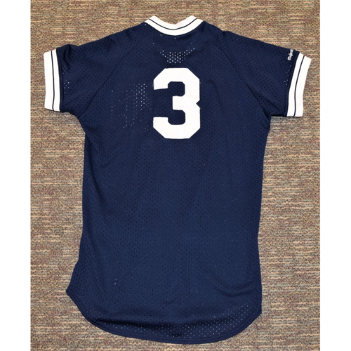 Photo of Alan Trammell Detroit Tigers #3 Blue Batting Practice Jersey (NOT MLB AUTHENTICATED)