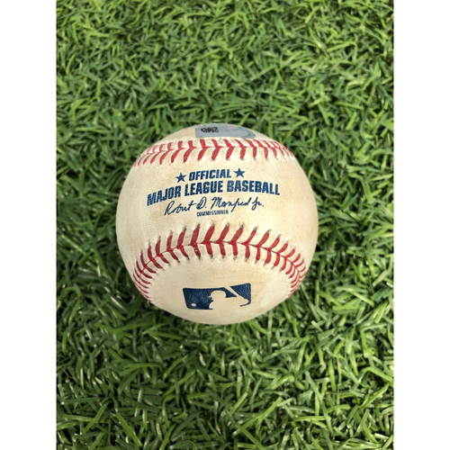 Game Used Baseball: Avisail Garcia strikeout and Tommy Pham at-bat against Rich Hill - May 22, 2019 v LAD