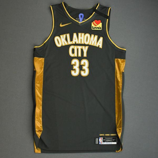 Image of Mike Muscala - Oklahoma City Thunder - Game-Worn City Edition Jersey - 2019-20 Season