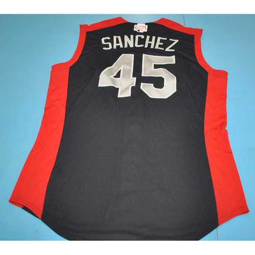 Photo of 2019 Futures Game - Sixto Sanchez Batting Practice Worn Jersey