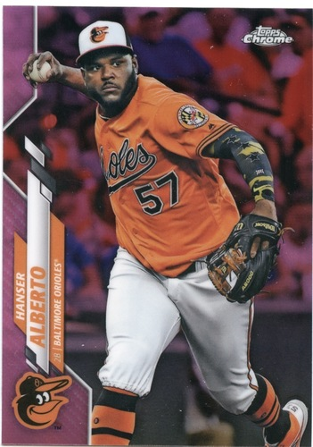 Photo of 2020 Topps Chrome Pink Refractors #79 Hanser Alberto