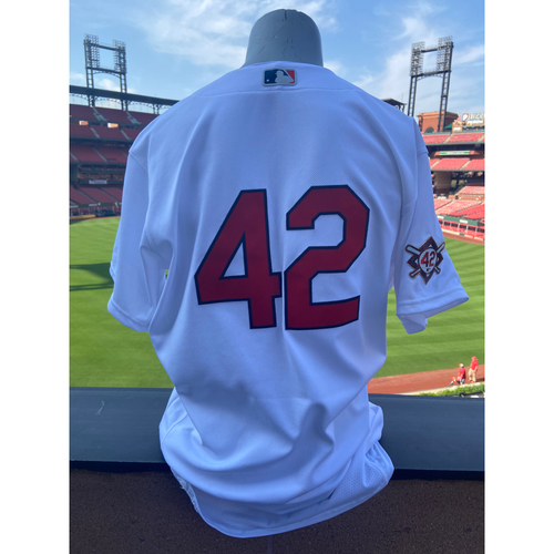 Photo of Cardinals Authentics: Team Issued Jake Woodford Jackie Robinson Day Jersey