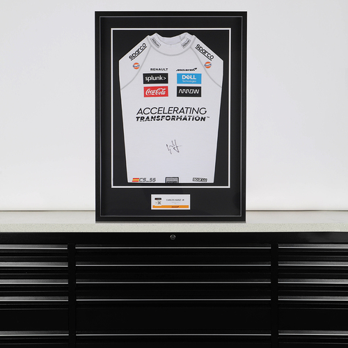 Photo of Carlos Sainz 2020 Signed Race Used Nomex