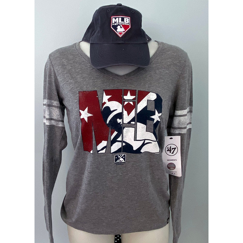 Photo of UMPS CARE AUCTION: MILB Women's Long Sleeve Logo Shirt with MLB Network Adjustable Cap