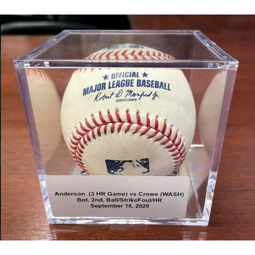 Photo of 2021 Auction: Brian Anderson Game-Used HR#7 Baseball - First Career 3-HR Game - Miami Marlins vs. Washington Nationals 09/18/2020 (Game 2)