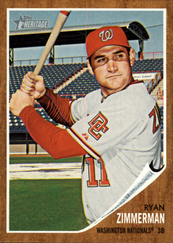 Photo of 2011 Topps Heritage #95 Ryan Zimmerman