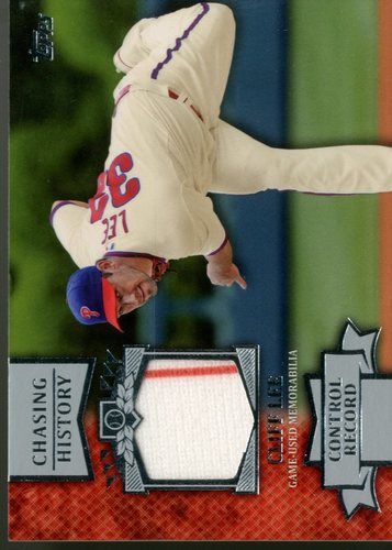 Photo of 2013 Topps Chasing History Relics #CL Cliff Lee