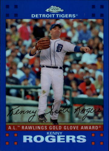Photo of 2007 Topps Chrome Blue Refractors #274 Kenny Rogers