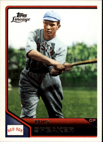 Photo of 2011 Topps Lineage #90 Tris Speaker -- Hall of Fame Class of 1937