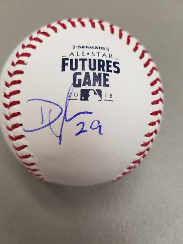 Photo of Dylan Cease Autographed 2018 Futures Logo Baseball