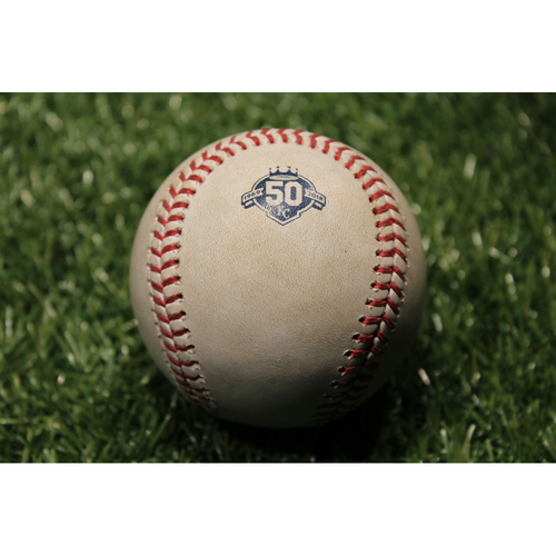 Photo of Game-Used Baseball: Yadier Molina 1,825th Career Hit (STL @ KC - 8/12/18)