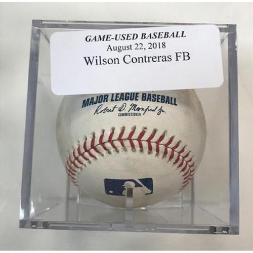 Photo of Game-Used Baseball: Willson Contreras Foul Ball