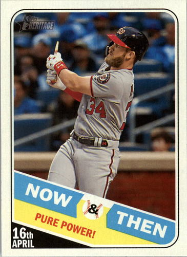 Photo of 2018 Topps Heritage Now and Then #NT12 Bryce Harper