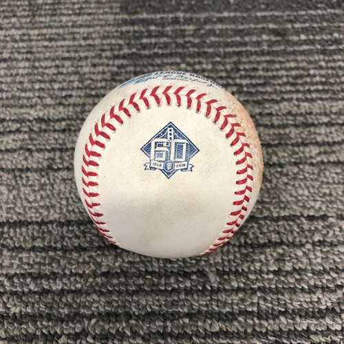 Photo of San Francisco Giants - 2018 Game Used Baseball - 9/28/18 vs. LAD - Madison Bumgarner Strikes Out Chris Taylor, Yasmani Grandal Fly Out to RF & Brian Dozier Ball 2.