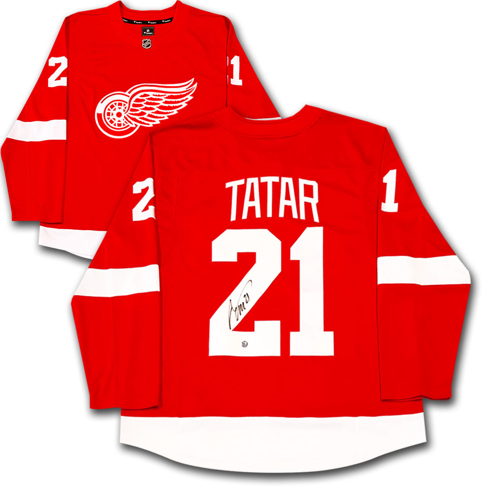 8f719910c Tomas Tatar Autographed Detroit Red Wings Fanatics Jersey - NHL Auctions