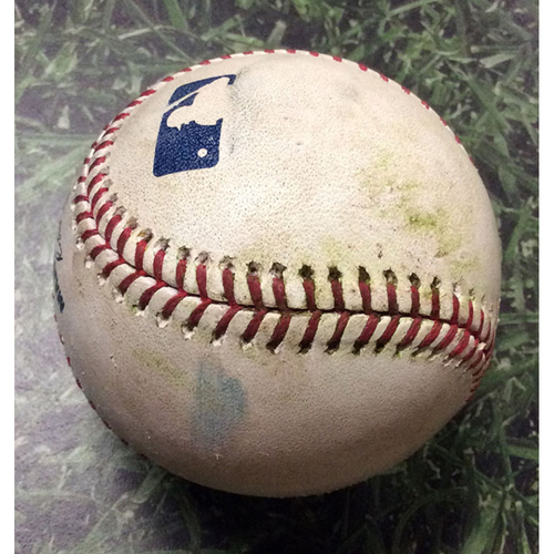 Photo of Game-Used Baseball COL@MIL 04/30/19 - Junior Guerra - Nolan Arenado: RBI Double